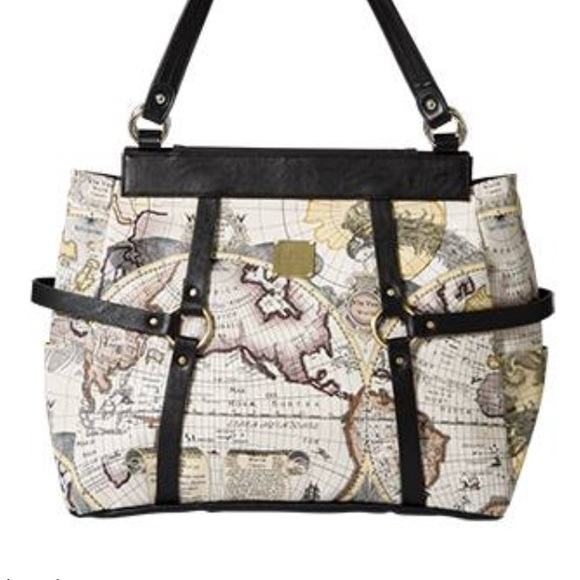 Miche bags prima gina world map atlas faux leather bag poshmark miche prima gina world map atlas faux leather bag gumiabroncs Images
